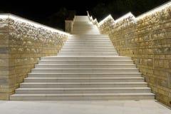 Κροατία, μαρμάρινη σκάλα ενός ξενοδοχείου Στοκ εικόνα με δικαίωμα ελεύθερης χρήσης