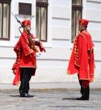 Κροατία/τάγμα/αλλαγή φρουράς τιμής Στοκ φωτογραφία με δικαίωμα ελεύθερης χρήσης