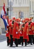 Κροατία/τάγμα φρουράς τιμής/να φανεί η σημαία Στοκ Εικόνα