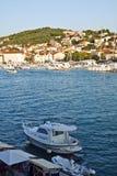Κροατία, Ciovo, μικρό νησί της δαλματικής ακτής Στοκ Εικόνες