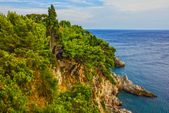 Κροατία, seascape Dubrovnik αδριατική παραλία Στοκ εικόνα με δικαίωμα ελεύθερης χρήσης