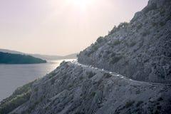 Κροατικά βουνά ηλιοβασιλέματος Στοκ εικόνα με δικαίωμα ελεύθερης χρήσης