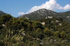 κροατικά βουνά Στοκ φωτογραφία με δικαίωμα ελεύθερης χρήσης