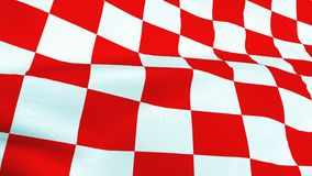 Κροατικά κόκκινα και άσπρα τετράγωνα που κυματίζουν τη σημαία Στοκ Φωτογραφίες