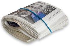 Κροατικά τραπεζογραμμάτια δεσμών 1000 kunas Στοκ Εικόνες