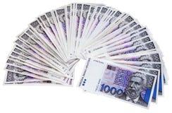 Κροατικά τραπεζογραμμάτια δεσμών 1000 kunas Στοκ εικόνες με δικαίωμα ελεύθερης χρήσης