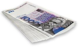 Κροατικά τραπεζογραμμάτια δεσμών 1000 kunas Στοκ εικόνα με δικαίωμα ελεύθερης χρήσης