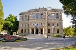 Κροατική ακαδημία των επιστημών και των τεχνών, Ζάγκρεμπ Στοκ Φωτογραφίες