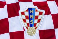 Κροατική εθνική ομάδα Τζέρσεϋ ποδοσφαίρου Στοκ φωτογραφία με δικαίωμα ελεύθερης χρήσης