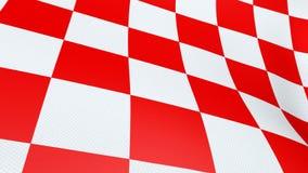 Κροατική κόκκινη και άσπρη κυματίζοντας σημαία πινάκων ελέγχου στοκ φωτογραφίες