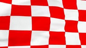 Κροατική κόκκινη και άσπρη σημαία τετραγώνων στοκ φωτογραφία με δικαίωμα ελεύθερης χρήσης