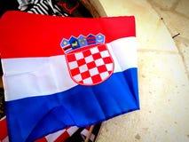 Κροατική σημαία στοκ φωτογραφίες με δικαίωμα ελεύθερης χρήσης