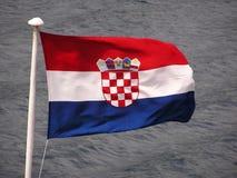 κροατική σημαία Στοκ Εικόνες