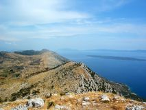 κροατική όψη θάλασσας νησιών Στοκ φωτογραφία με δικαίωμα ελεύθερης χρήσης