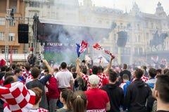 Κροατικοί οπαδοί ποδοσφαίρου Στοκ εικόνα με δικαίωμα ελεύθερης χρήσης