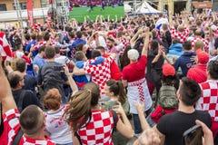 Κροατικοί οπαδοί ποδοσφαίρου Στοκ Εικόνα
