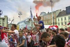 Κροατικοί οπαδοί ποδοσφαίρου Στοκ Φωτογραφία