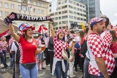 Κροατικοί οπαδοί ποδοσφαίρου Στοκ φωτογραφίες με δικαίωμα ελεύθερης χρήσης