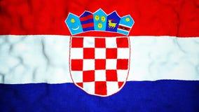 Κροατικός άνευ ραφής τηλεοπτικός βρόχος σημαιών ελεύθερη απεικόνιση δικαιώματος