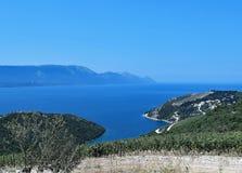 Κροατικός μπλε ουρανός που σκέφτεται κοντά σε Dubrovnic στοκ φωτογραφία με δικαίωμα ελεύθερης χρήσης