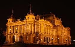 Κροατικό εθνικό θέατρο Στοκ εικόνα με δικαίωμα ελεύθερης χρήσης