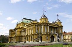 Κροατικό εθνικό θέατρο Στοκ εικόνες με δικαίωμα ελεύθερης χρήσης