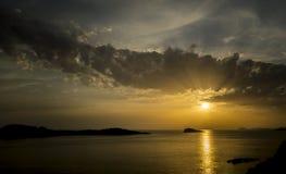 κροατικό ηλιοβασίλεμα Στοκ Εικόνες