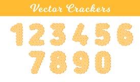 Κροτίδα υγείας Απομονωμένο μπισκότο: σχήμα ένα, δύο, τρία, τέσσερα, πέντε, έξι, επτά, οκτώ, εννέα, ziro Εικονίδιο 1, 2 ελεύθερη απεικόνιση δικαιώματος