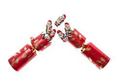 κροτίδα Χριστουγέννων Στοκ φωτογραφίες με δικαίωμα ελεύθερης χρήσης