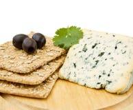 κροτίδες μπλε τυριών Στοκ εικόνες με δικαίωμα ελεύθερης χρήσης