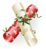 κροτίδες Χριστουγέννων απεικόνιση αποθεμάτων