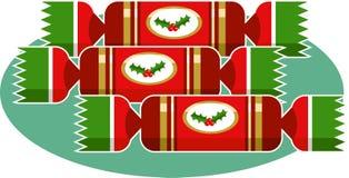 κροτίδες Χριστουγέννων ελεύθερη απεικόνιση δικαιώματος