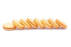 Κροτίδα κρέμας τυριών σάντουιτς Στοκ φωτογραφία με δικαίωμα ελεύθερης χρήσης