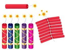 Κροτίδες βομβών Pataka Diwali καθορισμένες Στοκ εικόνες με δικαίωμα ελεύθερης χρήσης