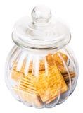 Κροτίδες ζάχαρης στο βάζο Β μπισκότων Στοκ φωτογραφία με δικαίωμα ελεύθερης χρήσης
