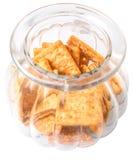 Κροτίδες ζάχαρης στο βάζο Χ μπισκότων Στοκ εικόνα με δικαίωμα ελεύθερης χρήσης