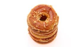 Κροτίδες σάντουιτς κρέμας, doughnut Στοκ φωτογραφία με δικαίωμα ελεύθερης χρήσης