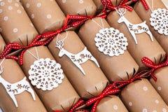 Κροτίδες Χριστουγέννων Στοκ Φωτογραφία