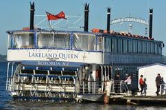 Κρουαζιέρα βασίλισσας του lakeland - Rotorua Νέα Ζηλανδία Στοκ Φωτογραφίες