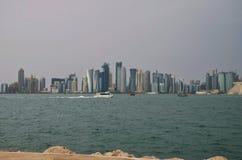 Κρουαζιέρα γείσων doha του Κατάρ dhow Στοκ φωτογραφία με δικαίωμα ελεύθερης χρήσης