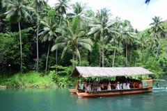 Κρουαζιέρα ποταμών Loboc σε Bohol, Φιλιππίνες Στοκ Φωτογραφία