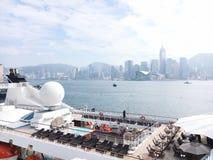 Κρουαζιέρα σε TST HK στοκ φωτογραφίες με δικαίωμα ελεύθερης χρήσης