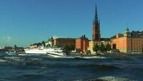 Κρουαζιέρα στη Στοκχόλμη, Σουηδία απόθεμα βίντεο