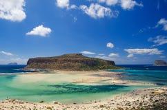 Κρουαζιέρα στο νησί Ελλάδα Balos Στοκ φωτογραφία με δικαίωμα ελεύθερης χρήσης