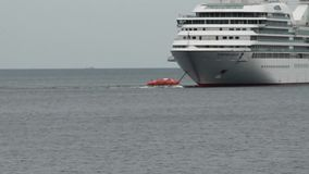 Κρουαζιερόπλοια σε Puerto Montt Χιλή απόθεμα βίντεο