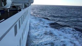 Κρουαζιερόπλοιο εν πλω απόθεμα βίντεο