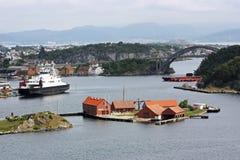 Κρουαζιερόπλοιο στο Stavanger Στοκ Φωτογραφία