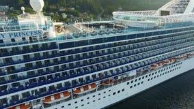 Κρουαζιερόπλοιο της Αλάσκας απόθεμα βίντεο