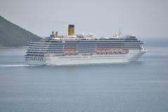 Κρουαζιερόπλοιο Mediterranea πλευρών στην αδριατική θάλασσα Στοκ Φωτογραφία