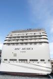 Κρουαζιερόπλοιο Msc Musica Στοκ φωτογραφίες με δικαίωμα ελεύθερης χρήσης